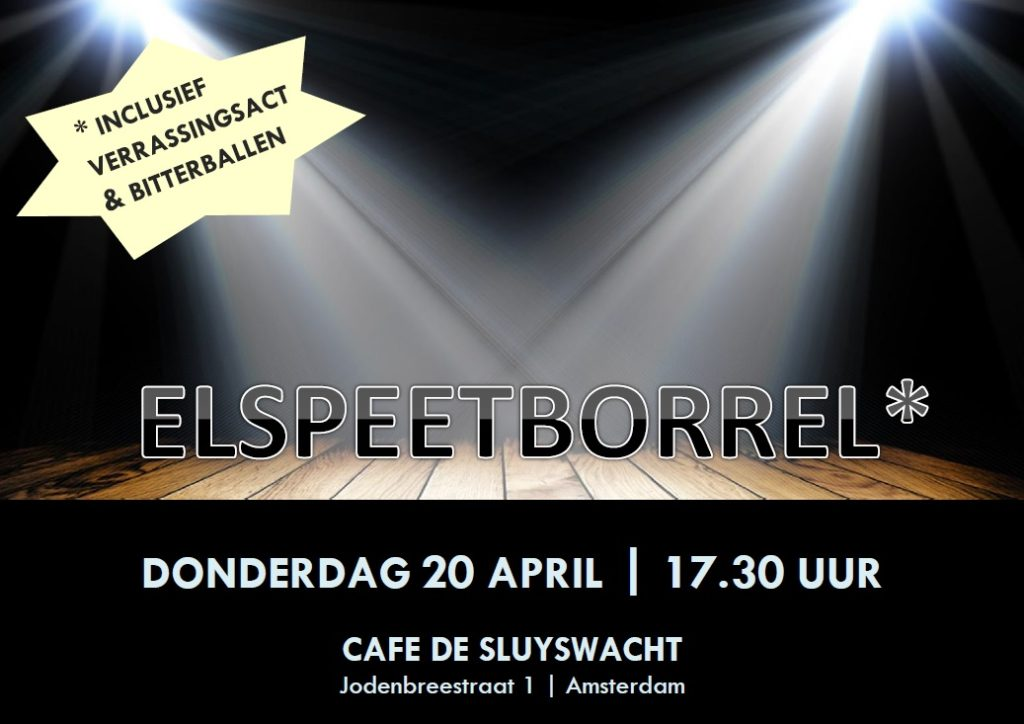 Elspeetborrel 20 april